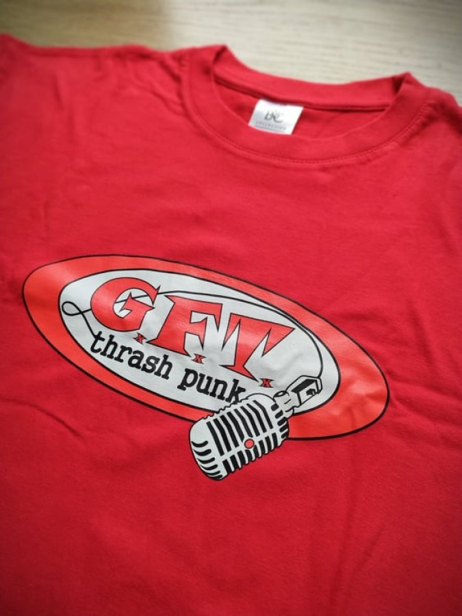 GxFxTx old mic logo t-shirt (red)