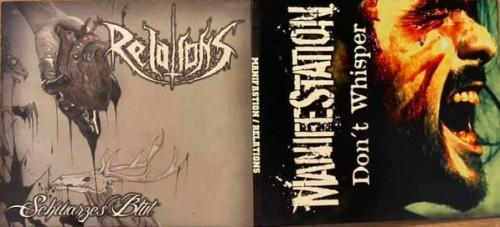 ManifeStatioN / Relations – Don't Whisper / Schwarzes Blut split / 7'inch