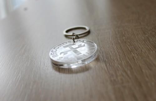 PASIDARYK PATS records - raktų pakabukas